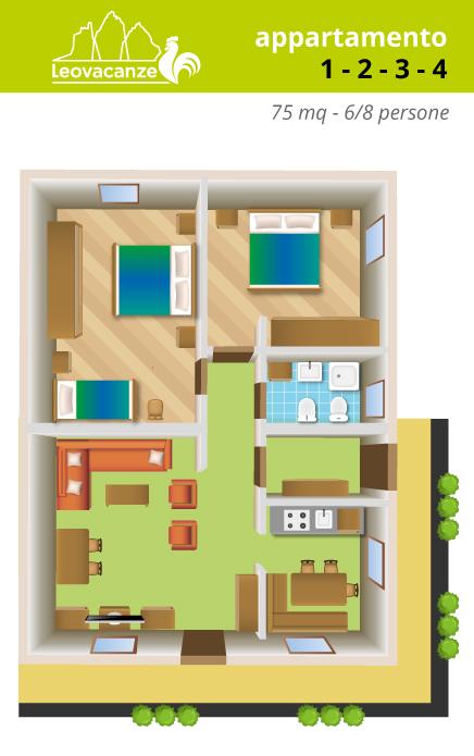 appartamenti 1-2-3-4 - Leo Vacanze