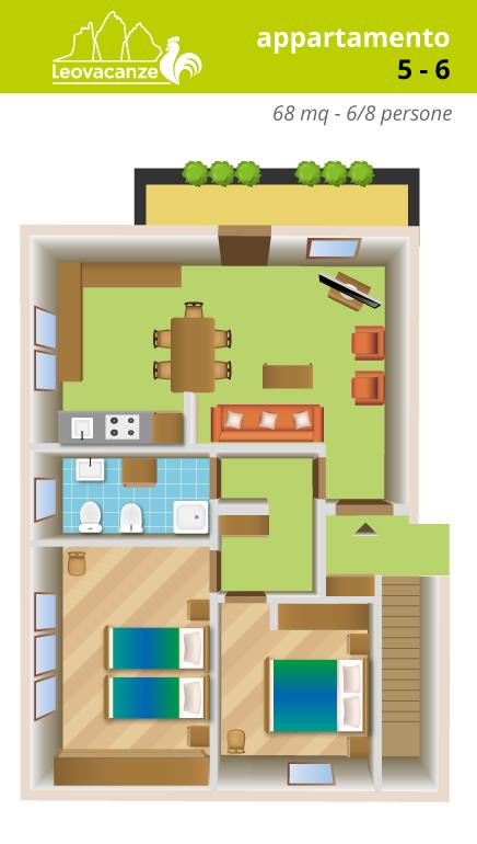 appartamenti 5-6 - Leo Vacanze